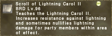 Scroll of Lightning Carol II