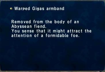 Warped Gigas armband