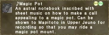 ♪Magic Pot