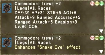 Commodore trews +2 (Aug)