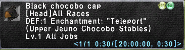 Black chocobo cap