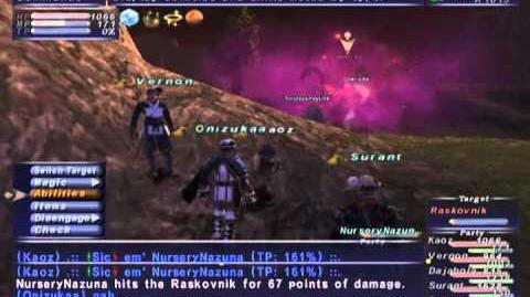 FFXI NM Saga 218 Raskovnik vs BSTs (Full Battle++)