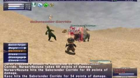 FFXI NM Saga 223 Sabotender Corrido vs BST80 Full Battle