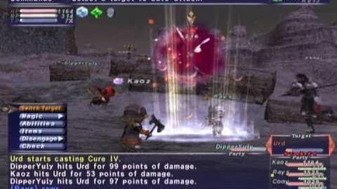 FFXI NM Saga 305 Urd NM Full Battle