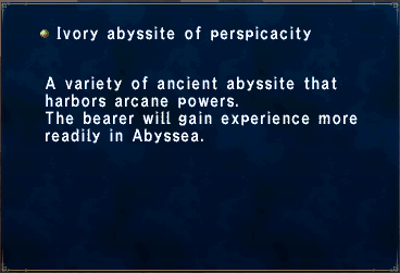 Ivory abyssite of perspicacity