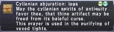 Cylennian Abjuration Legs