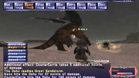 FFXI NM Saga 281 Dahu vs BST Full Battle
