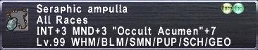 Seraphic Ampulla
