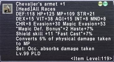 Chevalier's Armet +1