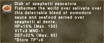 Dish of spaghetti pescatora