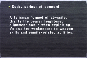 Dusky Periapt of Concord
