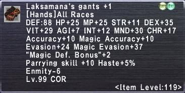 Laksamana's Gants +1