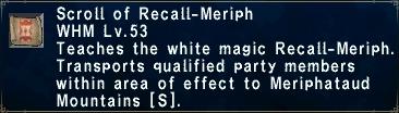 Recall-Meriph