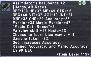 Assimilator's Bazubands +2