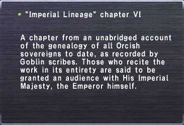 Imperial Lineage chapter VI