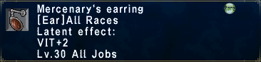 Mercenary's Earring