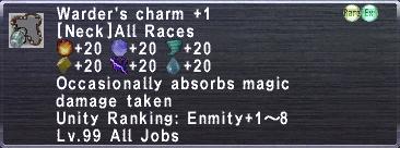 Warder's Charm +1