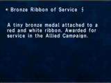 Bronze Ribbon of Service