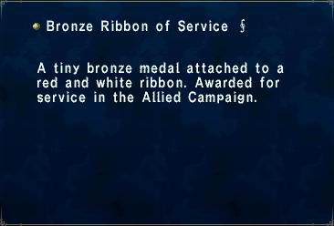 Bronze Ribbon Of Service