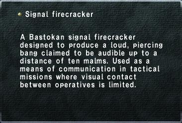 Signal Firecracker