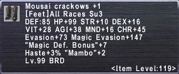 Mousai Crackows +1