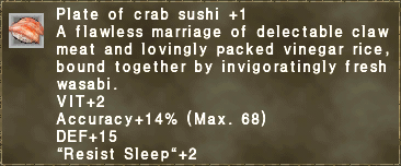 Plate of crab sushi +1