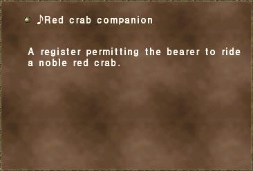 ♪Red crab companion