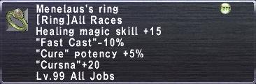 Menelaus's Ring