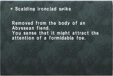 Scalding Ironclad Spike