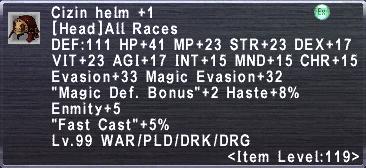 Cizin helm +1
