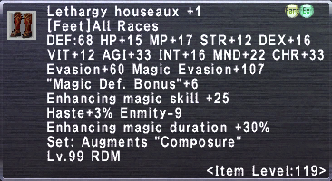Lethargy Houseaux +1