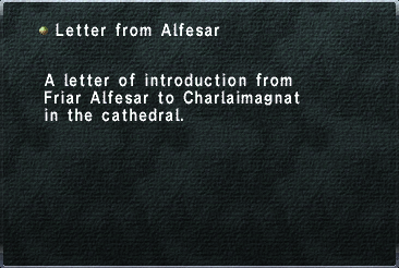 Letter from Alfesar