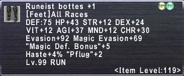 Runeist Bottes +1