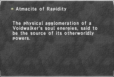 Atmacite of Rapidity
