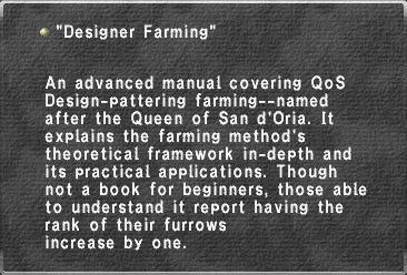 Designer Farming
