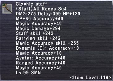 Glyphic Staff