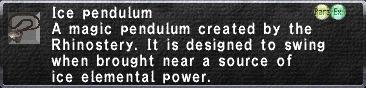 Ice pendulum