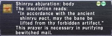Shinryu abjuration body