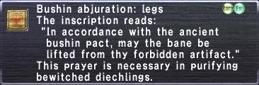 Bushin abjuration legs