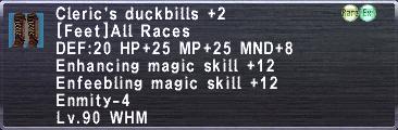 Cleric's Duckbills +2