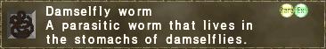 Damselfly worm