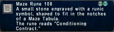 Maze rune 108