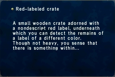 Red-Labeled Crate