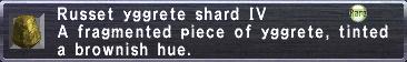 Russet yggrete shard IV