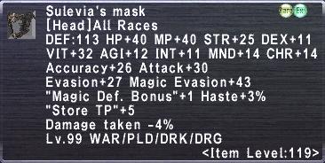 Sulevia's Mask