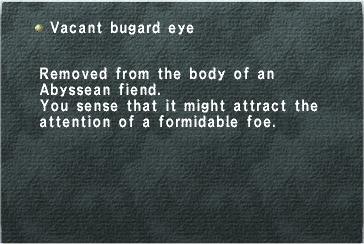 Vacant Bugard Eye