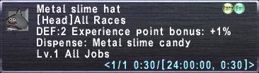 Metal slime hat