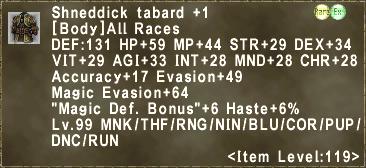 Shneddick tabard +1
