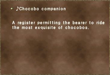 ♪Chocobo companion