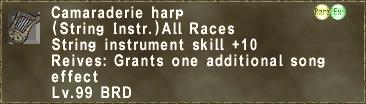 Camaraderie harp